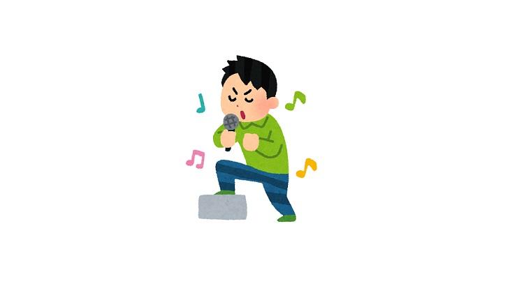 ボーカルが歌っている画像