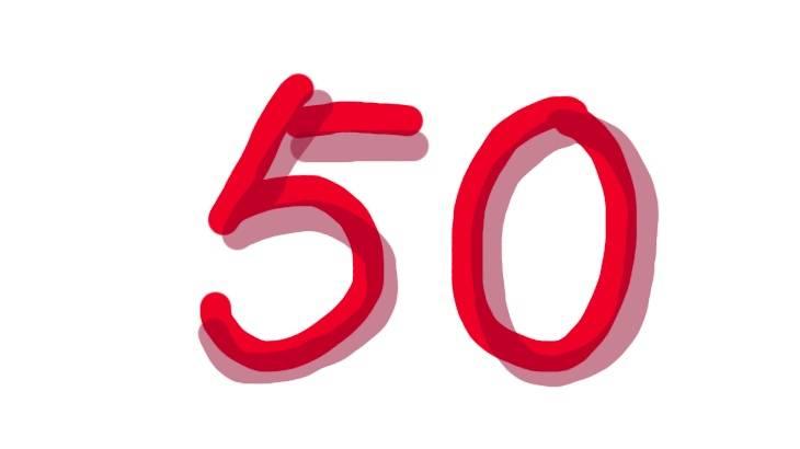 ブログ50記事達成記念!たまには何も考えずに書いていいさ!