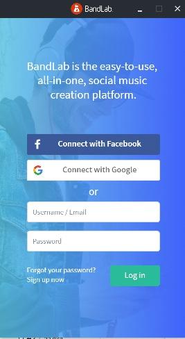 bandlabログイン画面