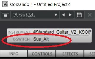 Standard Guitarのキースイッチ