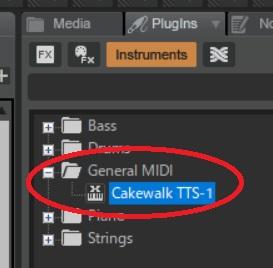 Cakewalk TTS-1を追加3