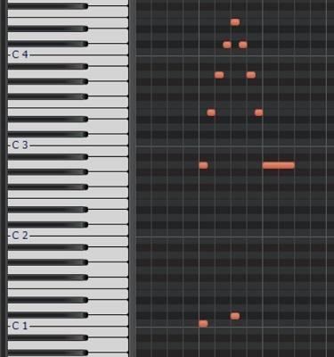 アルペジオのピアノロール1