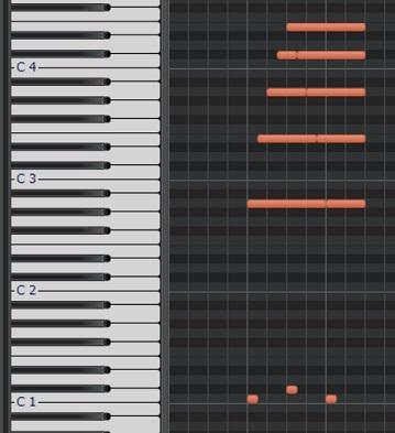 アルペジオのピアノロール2